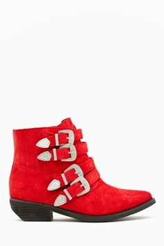 Kelsi Dagger Dallas Boot - Red Suede