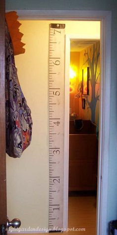 Antique-Style Measuring Tape Fabric for Height / Growth Charts, Curtain Panels, etc.. $12.00, via Etsy.