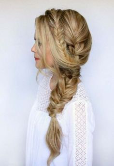 Mixed Side Braid hairstyles 2017