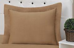 Porta Travesseiro Malha Fio30/1 Penteada- 1 Peça - Tamanho: 75cm x 60cm - Composição: Externo: 100% Algodão - Enchimento: Fibra 100% Poliéster -