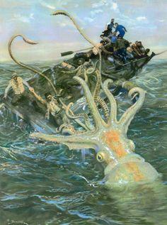 The Kraken by Zdeněk Burian