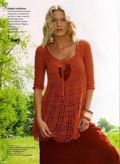 Crochet Tunic - Tunic Crochet - Crochet Tunic - The blog world-creative