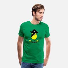 Küken Hegi - Pirat Männer Premium T-Shirt Kelly Green, Pullover, Mens Tops, Design, Fashion, Pirates, Panelling, Fashion Styles, Sweater