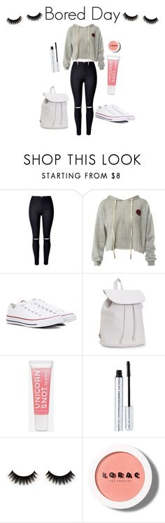"""Bored Day"" by skataewwvas on Polyvore featuring Sans Souci, Converse, Aéropostale, 100% Pure and LORAC"
