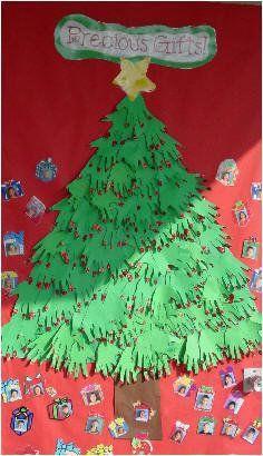 Precious Gifts Display, Classroom Display, class display, Christmas, santa, father Christmas, tree, present,Early Years (EYFS), KS1  KS2 Primary Resources