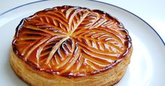 Pithiviers is the name of the galette des rois (twelfth night cake) in France. Here made with a frangipane cream which is a mixture of ...