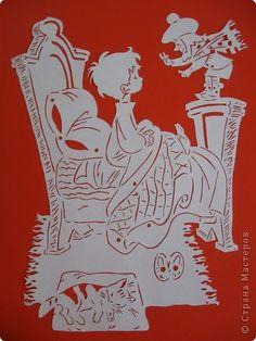 Картина панно рисунок Вырезание Вилли Винки Бумага фото 1