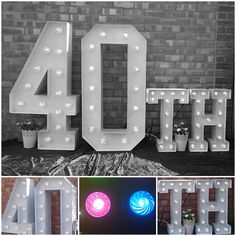 Large Light Up Letters for Birthday Celebrations. Large Light Up Letters, Wedding Letters, Birthday Celebrations, Tree Branches, Corporate Events, Art Pieces, Birthdays, Lettering, Lights