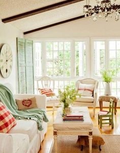 Classic Light Filled Cottage Style Living rooms | Better Home and Garden