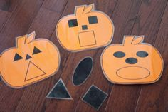 Toddler Approved!: Pumpkin Shape Movement Game for Kids - tape the pumpkins up around the room to encourage activity.