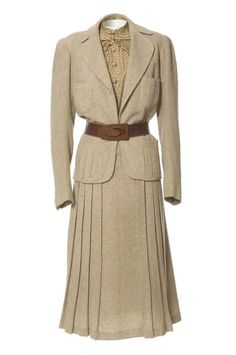 Tailored suit, Jeanne Paquin, Spring/Summer 1937.