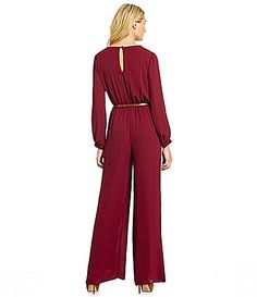 Burgundy Jumpsuit by Gibson. Buy for $59 from Dillard's