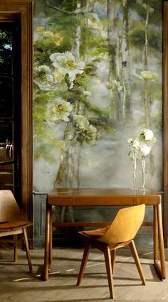 Claire Basler Flower Paintings | Art | Flower Mural | Floral Art | Interior Decor | Interior Design | Bedroom Design | Soft furnishings | Please your curiosity, discover more