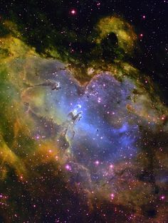 The Eagle Nebula, a grand old bird roughly 6,500 light-years away. Image courtesy T. A. Rector & B. A. Wolpa, NOAO, AURA