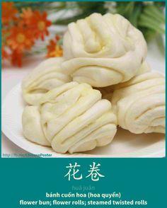 花卷 - Huājuǎn - bánh cuốn hoa - flower bun