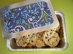 great gift wrap idea: paste scrapbook paper onto a box lid, then tie up with a ribbon. so easy and looks great!