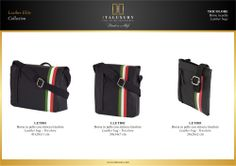 #Borse in #pelle con striscia #tricolore / #Leather #bags - #Tricolore by ITALUXURY | #Luxury Leather Goods & Accessories - Made in Italy. Website: www.italuxury.com