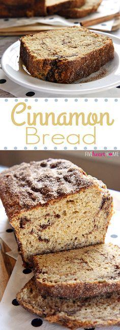 Cinnamon Bread {No-Yeast Quick Bread} FoodBlogs.com