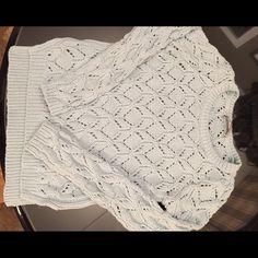 Ann Taylor Loft sweater Light blue cotton sweater in excellent condition LOFT Sweaters Crew & Scoop Necks