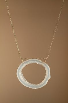 Crystal necklace  geode necklace  raw crystal necklace by BubuRuby, $34.00