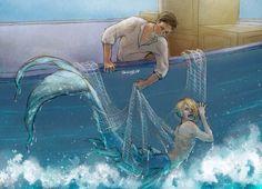 A Yuri on Ice Fanfic. Merman - part 1 Mermaid Drawings, Mermaid Art, Art Drawings, Mermaid Canvas, Fantasy Mermaids, Mermaids And Mermen, Character Inspiration, Character Art, Manga Anime