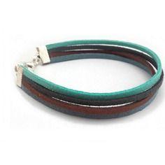 Bracelet multicolore en suédine pour homme