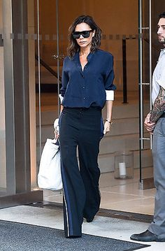 Victoria Beckham looked smart and sophisticated ahead of her New York Fashion Week runway show on Sunday.