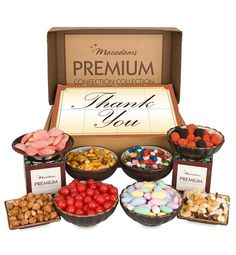 Macadams' Thank You Collection      A unique and delicious thank you gift featuring eight boxes of treats.  $39.95