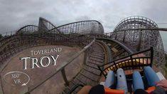 Toverland 2019 Troy 360° VR Onride Roller Coaster, Troy, Fair Grounds, Travel, Viajes, Roller Coasters, Trips, Tourism, Traveling