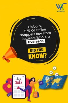 The shoppers buy from retailers which means how necessary it has become for your business to have global exposure in order to reach an international audience and to sell more. Hence, start developing your online store with Webmerx. Ecommerce Solutions, To Reach, Retail, Things To Sell, Store, Business, Larger, Business Illustration, Shop