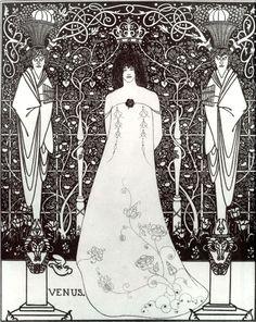 BEARDSLEY, Aubrey English Art Nouveau,Golden Age Illustrator (1872-1898)_Venus between Terminal Gods 1895