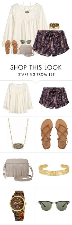 """""""day 3- shopping"""" by hmcdaniel01 ❤ liked on Polyvore featuring H&M, Abercrombie & Fitch, Kendra Scott, Billabong, FOSSIL, Sam Edelman, Michael Kors and Ray-Ban"""
