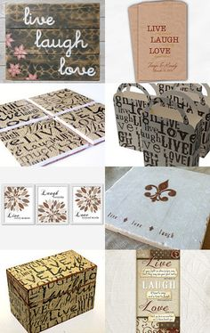 Live LAUGH Love by Candace Lynn on Etsy--Pinned with TreasuryPin.com