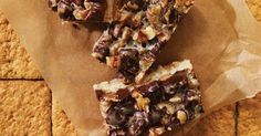 Barres à la noix de coco, aux pacanes et au chocolat
