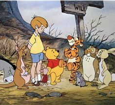 Best Animated Characters - Christopher Robin, Winnie the Pooh and Friends