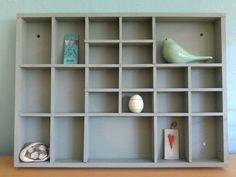 Alter kleiner Setzkasten wird wieder schön mit Kreidefarbe. Ein schnelles Projekt