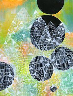 abstract paintings and drawings - Lisa Congdon Art + Illustration Kunstjournal Inspiration, Art Journal Inspiration, Painting Inspiration, Art And Illustration, Graffiti, Collages, Geometric Art, Doodle Art, Love Art