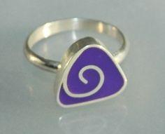 Pretty purple resin ring by jewelrygeek