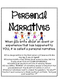 Launching Writer's Workshop and Personal Narrative Unit (CC ...