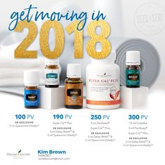 Starting my year of right with Young Living's Free oils and Super Cal.
