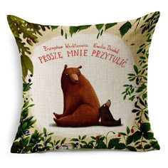 Decorative Forest Animal Brown Bear Mother and Son Cute Sweet Gift Sofa Car Cushion Cover Throw Pillow Cover Case-in Cushion Cover from Home & Garden on Aliexpress.com   Alibaba Group