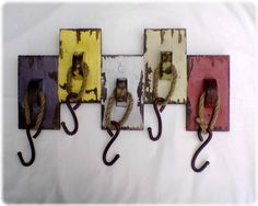 Accessories & Furniture, Cheap And Beautiful Coat Hook Wall Mount Design Inspiration With Creative Coat Hooks In Multicolor Also Vintage Brown Iron Coat On Combined Line: Rustic Coat Hoks Wall Mounted