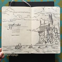 Harry Potter Bullet Journal Ideas - Head Back to Hogwarts - - Want to introduce a bit of nostalgia to your bullet journal? These Harry Potter bullet journal ideas are perfect for anyone who is a Potterhead like me! Bullet Journal Inspo, Bullet Journal Notebook, Bullet Journal Junkies, Bullet Journal Spread, Bullet Journal Layout, Bullet Journals, Bullet Journal Expense Tracker, Bullet Journal Films, Bullet Journal September Cover