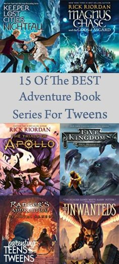 15 Of The Best Adventure Book Series For Tweens Books For Tweens, Apps For Teens, Books For Boys, Book Series For Boys, Best Adventure Books, Parenting Books, Parenting Articles, The Land Of Stories, Different Zodiac Signs