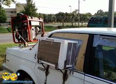 Funny Car Cooling System AC Cooling System Jugaad