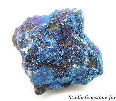 Rock & Mineral Rough Specimen Titanium Blue by StudioGemstoneJoy, $7.99
