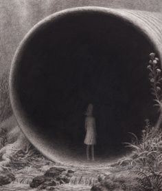 Aron Wiesenfeld (American: 1972 - ) | RUNOFF | charcoal on paper16.5 x 14 inches 2011