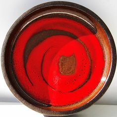 Denmark Lehmann XL pottery red bowl    #demark #lehmann #XL #xl #pottery #bowl #red #glaze #modern #brown #moderndesigns #modern #midcenturymodern #midcentury #abstract #abstractdecor #art #artpottery #potterystudio #studio #studioarts #style #studio