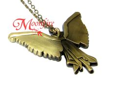 THE INFERNAL DEVICES Tessa's Clockwork Angel Necklace – Moonfire Charms