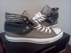 Studded Converse by Glamoureyezd on Etsy, $175.00